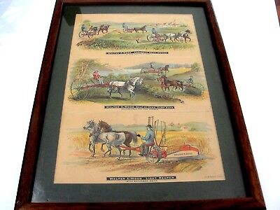 Rare 1890 ish Walter A. Wood Harvest Machines Colored Litho FARM BROCHURE