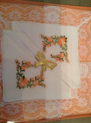 Vintage Boxed Handkerchiefs Made In Switzerland New