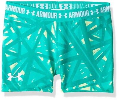 (Youth Large, Summer Lime) - Under Armour Girls' HeatGear Armour Printed 7.6cm