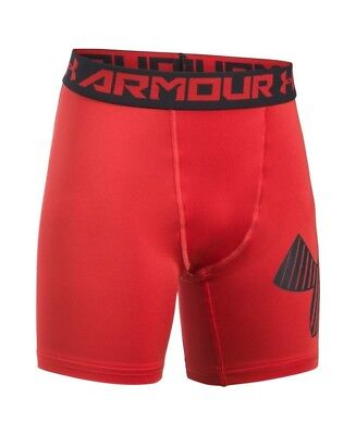 (Youth X-Large, Red (600)) - Under Armour Boys' HeatGear Armour Mid Shorts