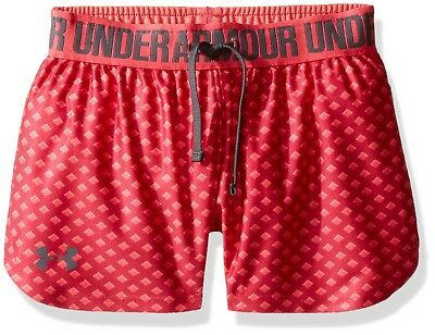 (X-Small, Honeysuckle/Gala) - Under Armour Girls' Play Up Printed Shorts