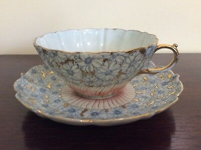 Vintage Fluted Cup And Saucer Fine English Bone China