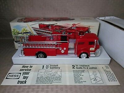 Vintage Hess Firetruck 1970 with Box -ORIGINAL Working Good Condition