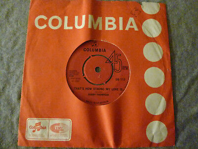 """7"""" Bobby Thompson - That's How Strong My Love / Trouble In The Town (Reggae 1969"""