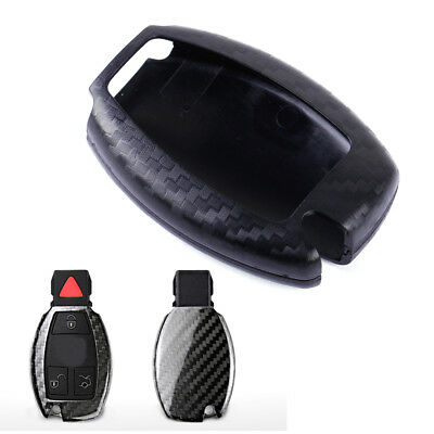 Carbon Fiber Remote Keyless Key Cover Case Fob Shell fit for Mercedes Benz A B C
