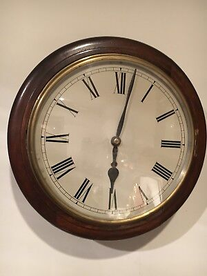 "12""SCHOOL / RAILWAY DIAL CLOCK Ansonia cleaned and serviced"