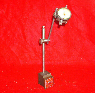 Vintage L.S. Starrett No.657 Magnetic Base Posts & Dial Indicator No.81-144