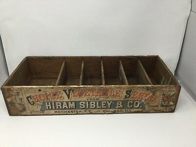 Vintage Choice Vegetable Seed Wooden Box, Hiram Sibley & Co. Rochester, Chicago