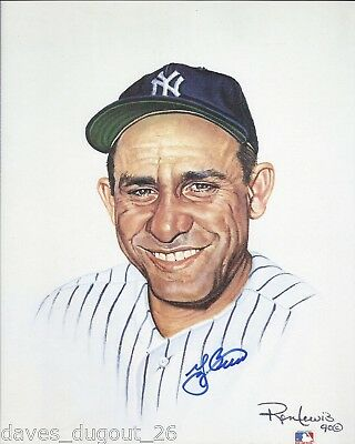 YOGI BERRA 8 x 10 Living Legends print by Ron Lewis - SIGNED - Authentic