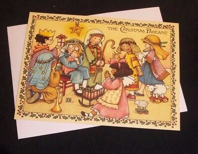 Mary Engelbreit The Christmas Pageant Christmas card w/envelope
