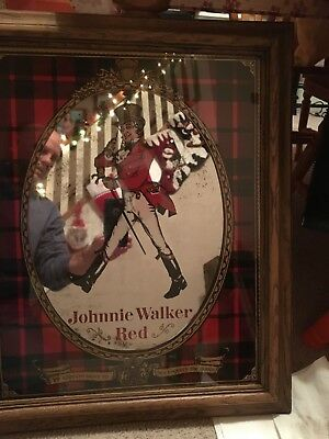 Johnnie Walker Red Mirror Picture with frame