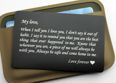 Custom Engraved Aluminum Wallet Card Insert