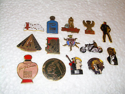 RARE LOT  PIN'S  JOHNNY HALLYDAY ORIGINAL STAR MUSIC FRENCH authentic ROCK
