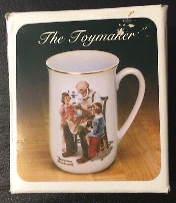 Norman Rockwell Porcelain Cup, The Toymaker, 1982, Great Shape