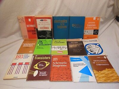 lot of vintage Archer / TAB / Allied  Radio Shack electronics books / manuals