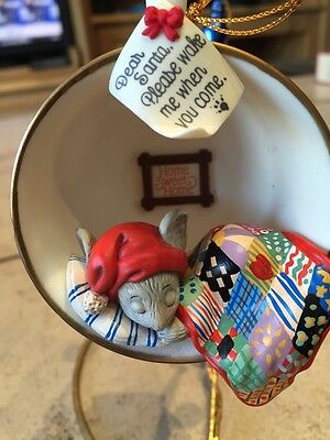 ENESCO CHRISTMAS ORNAMENT: HOME SWEET HOME! COZY CUP FIRST in SERIES mouse NEW