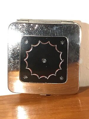 Vintage Rare Chrome Du Barry By Richard Hudnut Duo Compact
