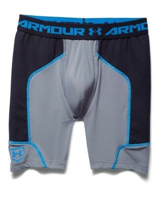 (Youth Large, Steel) - Under Armour Boys' Spacer Slider W/ Cup. Unbranded