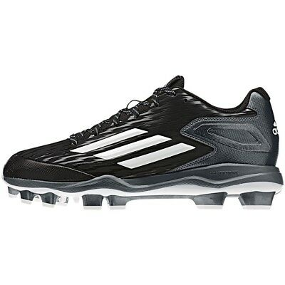 (7 D(M) US, Black/White) - Adidas PowerAlley 3.0 TPU Mens Baseball Cleat