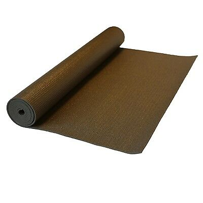 (180cm , Coffee) - j/fit Premium Sticky Pilates Mat (0.6cm thick)