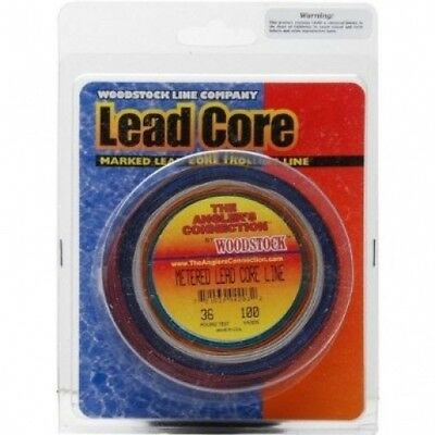 Woodstock 20kg Metered Lead Core Fishing Line, 1000 Yards. Free Delivery