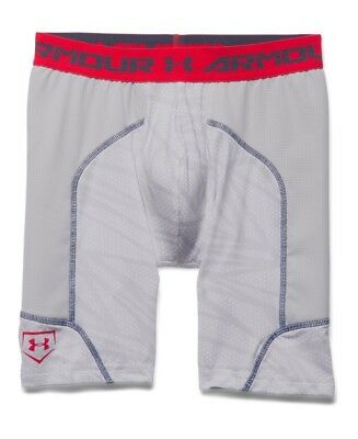 (Small, White/ Glacier Gray/ Red) - Under Armour Boys' Undeniable Spacer Slider