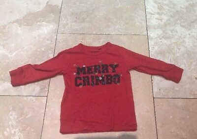 Boys Next Merry Chrimbo Top. 12-18 Months. New!!