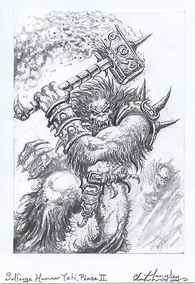 Solforge Hammer Yeti 2 Hand Drawn Fantasy Art Clint Langley