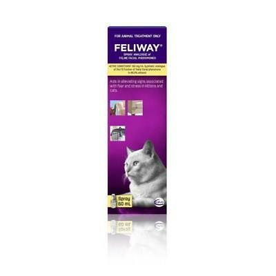 Feliway Analogue of Feline Facial Pheromone Spray 60mls calming for cats