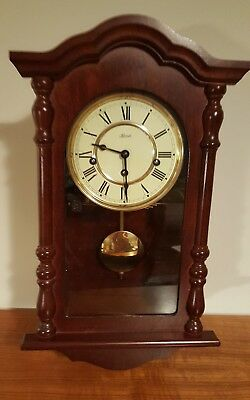 Hermle small Walnut Westminster 8 day wall clock - VGC