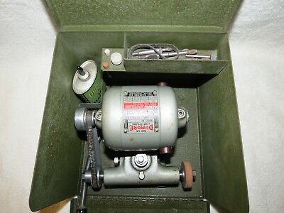 DUMORE No 14 TOM THUMB TOOL POST GRINDER FOR LATHE #14-011 In CASE w/ EXTRAS