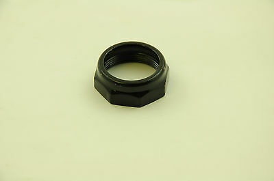 "BICYCLE 1"" (25.4mm) HEADSET LOCKNUT TOP NUT FOR BIKE CYCLE FORK BLACK"