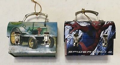 Lot of 2 Mini Lunch Pails Spider-Man 3 And John Deere