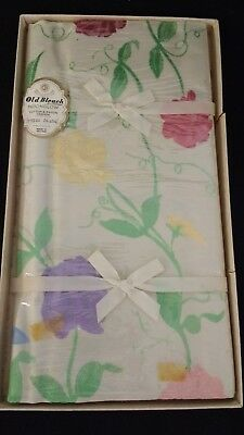 "Vintage Old Bleach Moonglow Tablecloth 54"" x 54"" unused/ vintage tearoom/wedding"