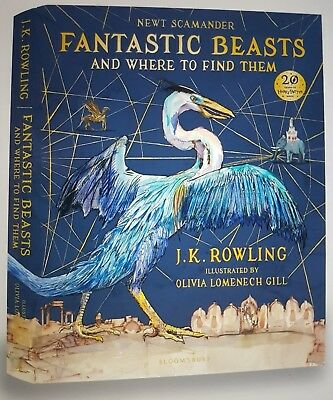 RARE SIGNED Fantastic Beasts Where to Find Them Illustrated 1ST/1ST ILLUSTRATOR