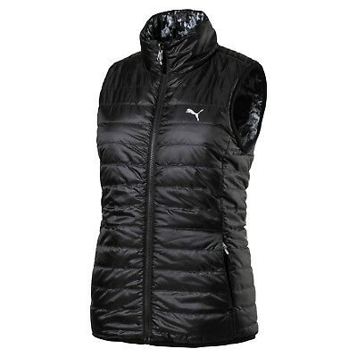 (Large, Puma Black) - Puma Golf Womens 2017 Women's Pwrwarm Reversible Vest