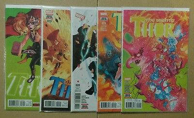 The Mighty Thor x 5 Issues #18 #19 #20 #21 #22 Marvel Comics 2017