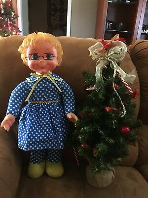 Original 1967 Mrs Beasley Doll Completely Restored, Talks With Glasses! !