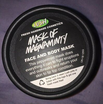 Lush Mask Of Magnaminty 125g face and body mask