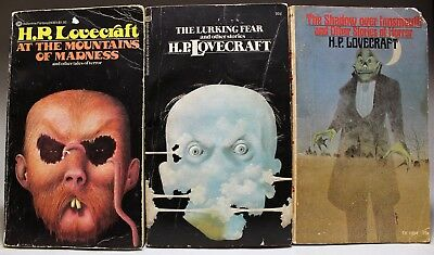 H. P. LOVECRAFT: Lot of 6 paperback books - Reading Copies