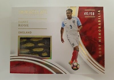 2017 Panini Immaculate Danny Rose Boot Patch