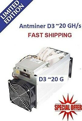 Bitmain Antminer D3 19.3Gh/s DASH X11 Miner + PSU UK STOCK READY TO SHIP