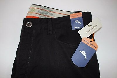 b8057f2acf1c9 NWT TOMMY BAHAMA 34x34 Men s Black COLLINS Athletic Fit Light Weight Casual  Pant