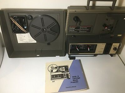 Vintage Wards dual 8 used movie projector  model 818 in original box.