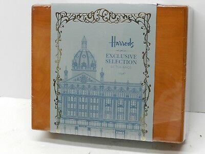 Harrods Exclusive Collection 60 Tea Bags in Wooden Box