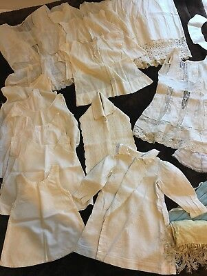 Antique Victorian Cotton Clothes~Large Lot-22 Items Mixed Dress Skirt Baby Dress