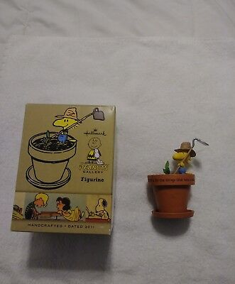 "2011 HALLMARK WOODSTOCK ""Faith takes a while"" Peanuts GALLERY FIGURINE w/Box EX"