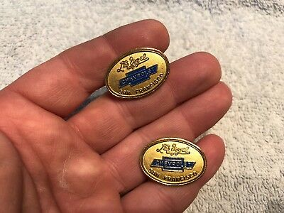 Chevrolet Bowtie Vintage Gold Tone Cuff Links Les Vogel Dealer San Francisco