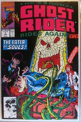 Vol. 1  # 7 1991 GHOST RIDER COMIC TAKES ON PUNISHER 2 of 2  Roxanne Returns VF