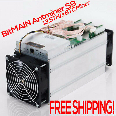 New Bitmain Antminer S9 13.5TH/s Bitcoin BTC Miner Makes $500/Month